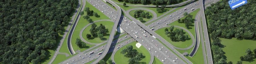 Транспортная развязка на пересечении Ленинского проспекта и МКАД поедет свободнее в сентябре 2015 года.