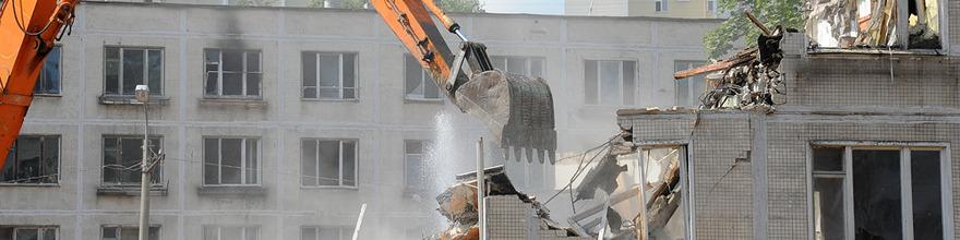 В районе Кунцево начался снос очередной ветхой пятиэтажки