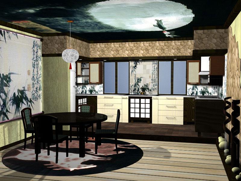3D Дизайн квартиры в японском стиле